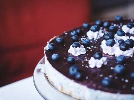 Cheesecake com mirtilos Beiraberry