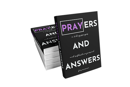 Prayers and Answers: A 21 Day Prayer and Reflection Journal For Women