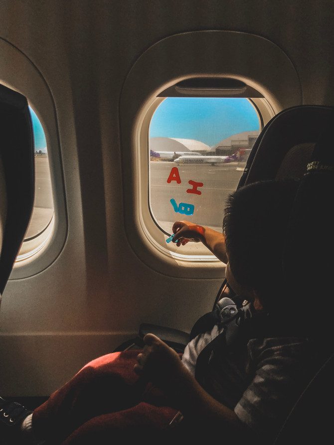 Surviving a flight with a Toddler (+ baby!)