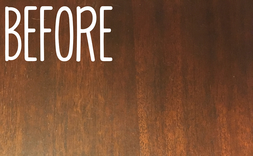 before photo- dining room table makeover
