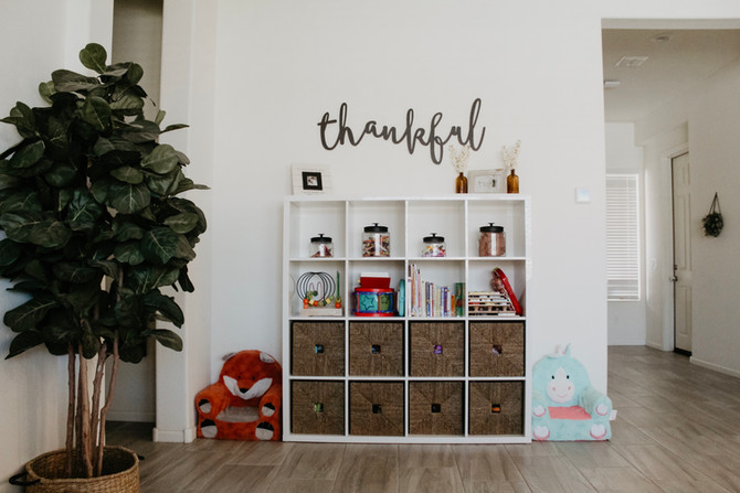 Toy Organization When You Have No Playroom