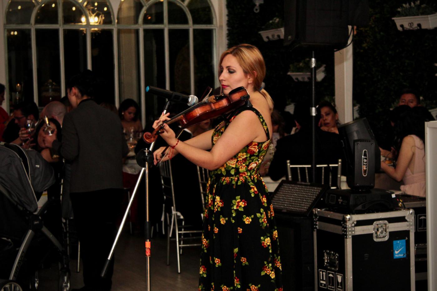 Violinista amenizacion