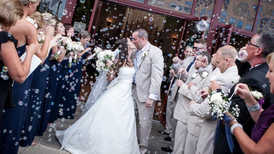 matrimonio maquina burbujas efectos especiales