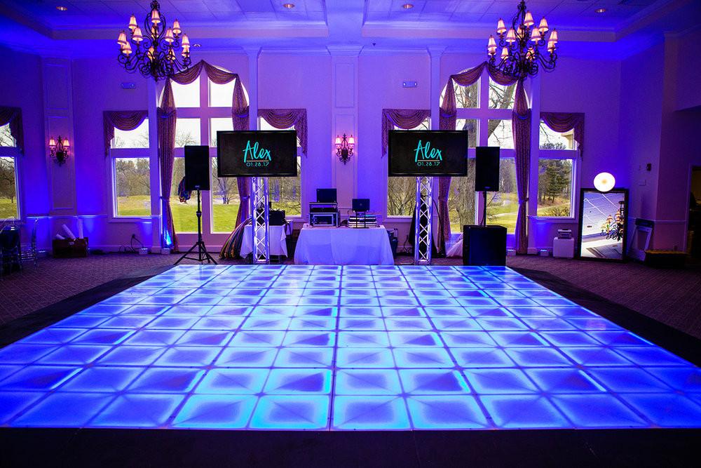 pista de baile LED montaje DJ pantallas