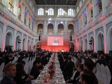 Peter Helis speaks at the Hamburg Summit 2018