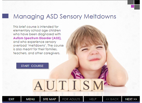 Storyline Project for Managing ASD Sensory Meltdowns