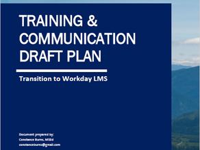 Training & Communication Plan