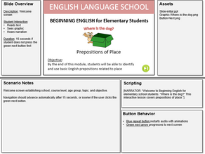 Storyboard for Interactive Lesson