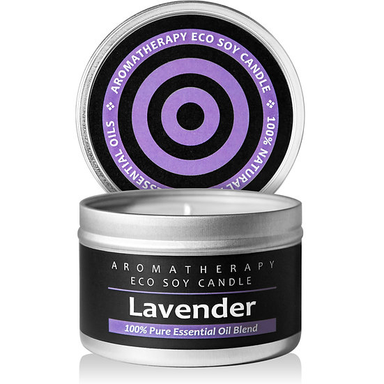 Aromatherapy ECO Soy Candle (Lavender)