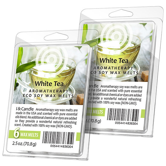 White Tea & Ginger Aromatherapy Wax Melts (2 Pack)
