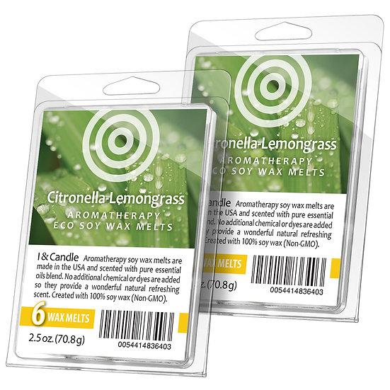 Citronella & Lemongrass Aromatherapy Wax Melts (2 Pack)