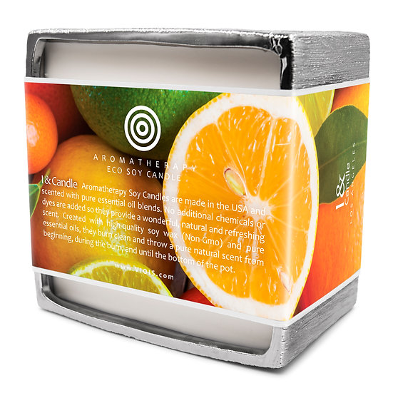 Big Pot 50 oz. Orange & Citrus Aromatherapy Eco Soy Candle (5-Wick)