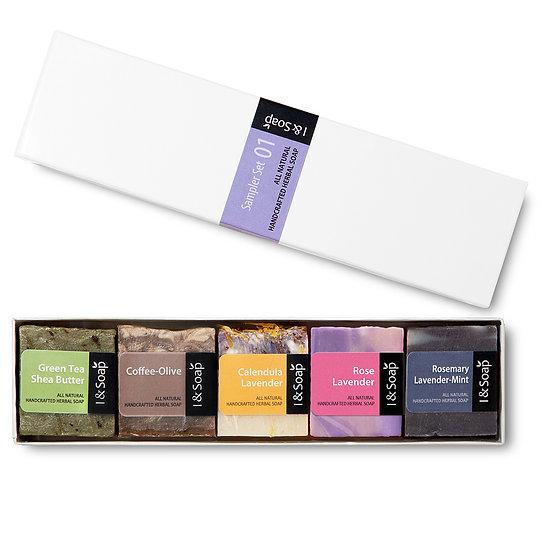 5 Pcs Mini Sampler Set (1) - Guest Soap / Travel Soap (Box)