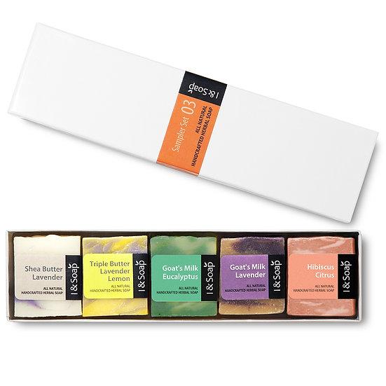 5 Pcs Mini Sampler Set (3) - Guest Soap / Travel Soap (Box)