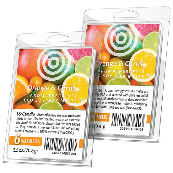 Orange & Citrus Aromatherapy Wax Melts (2 Pack)