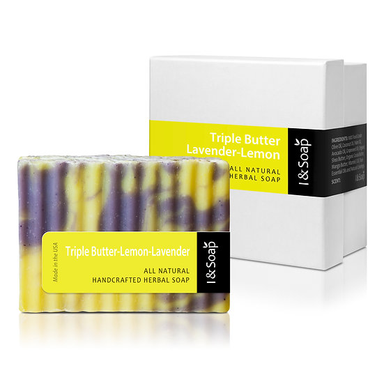 Triple Butter-Lemon-Lavender Soap