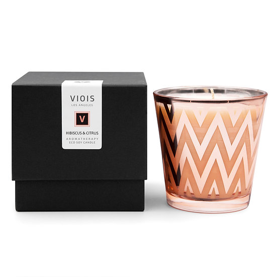 VIOIS, Hibiscus & Citrus Aromatherapy Eco Soy Candle