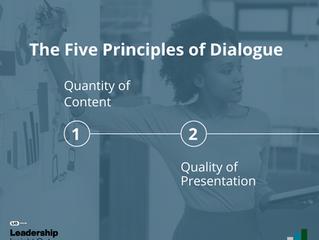 Five Principles of Dialogue