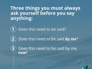 The 3 Question Rule