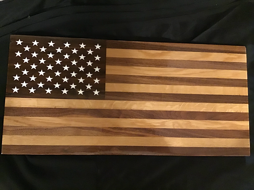 American Flag Serving Board