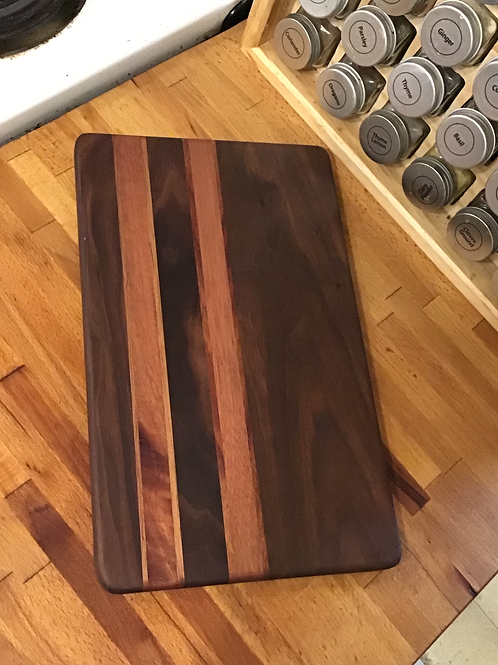 Double Walnut and Mahogany Cutting or Serving Board