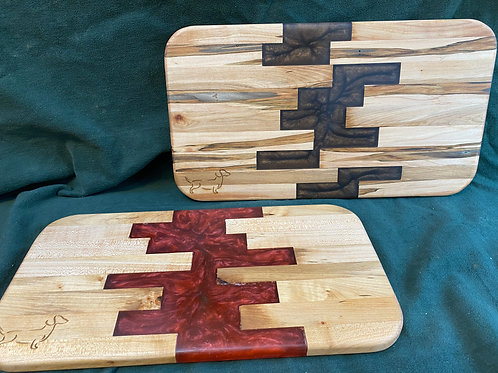 Pair of Geo Cutting or Serving Board