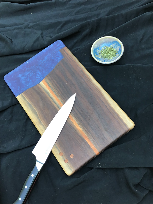 Blue Saw Edge Cutting or Serving Board