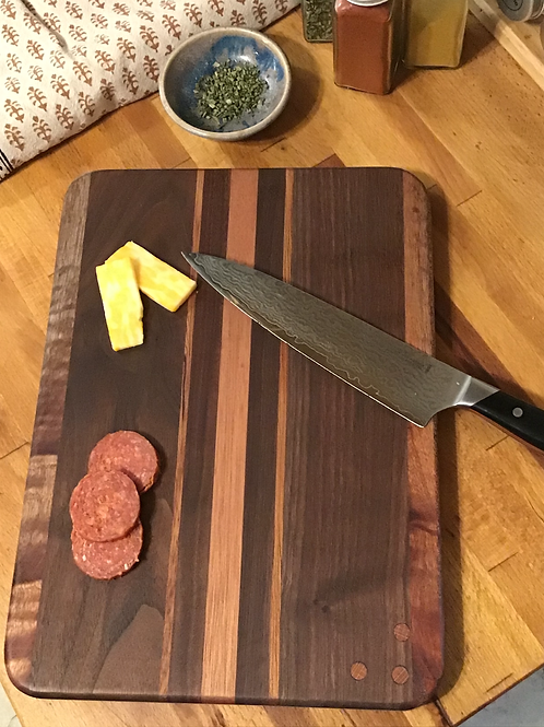 Exotic Stripes with Brazilian Cedar Cutting or Serving Board