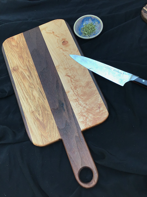 Straight Handle Cutting or Serving Board
