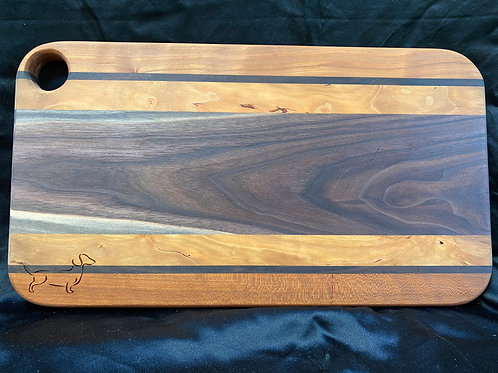 Mahogany, Black Walnut, and Pecan with Indention Cutting or Serving Board