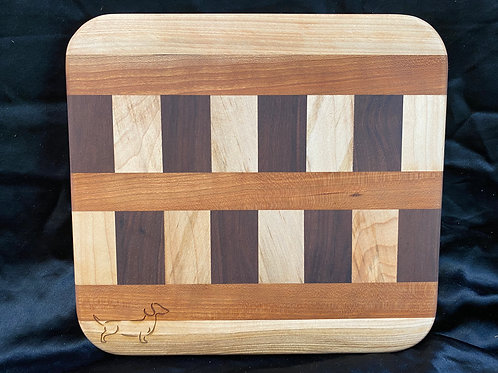 Double Checkered Stripes Cutting or Serving Board