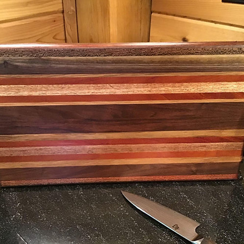 Exotic Stripes with Brazilian Mahogany Cutting or Serving Board