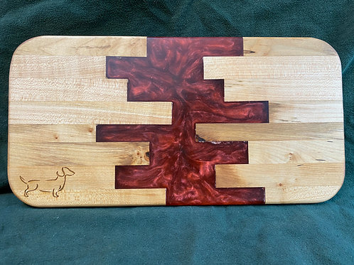 Red Geo Cutting or Serving Board