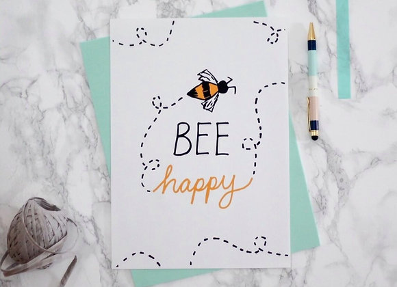 A4 BEE Yourself print by Amy Beth Walters