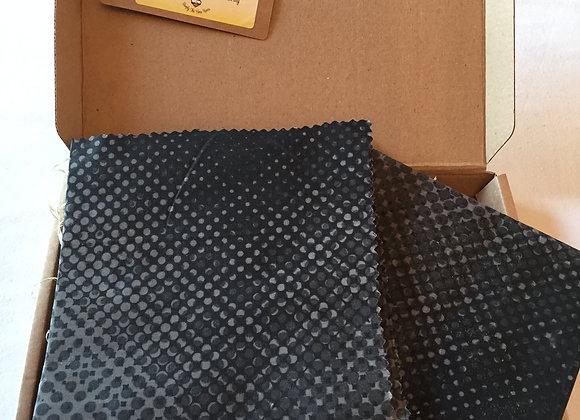 Black Coding Design Beeswax Wrap