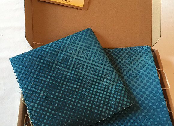 Blue Coding Design Beeswax Wrap