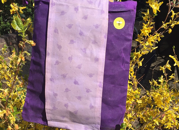 Honeybee on Purple Beeswax Produce Bags