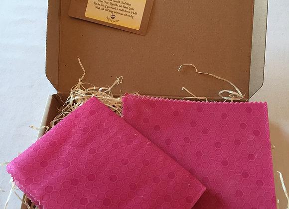 Pink HoneyComb BeesWax Wrap