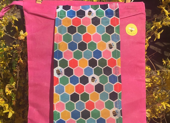 Bees On Hexagons Produce Bags