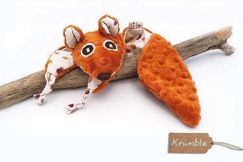 Doudou Krumble l'écureuil Oeko tex