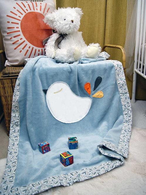 Couverture oiseau Oeko Tex
