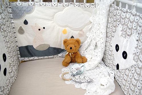 Tour de lit renard pour bébé - Oeko tex*