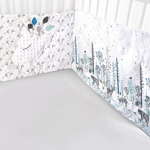 Tout de lit Forêt Enchantée Bleue avec tissu Oeko-Tex