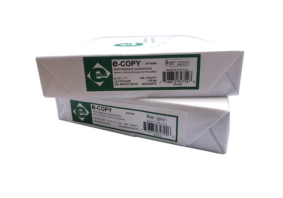 """ECopy printing paper, Letter Size (8 1/2"""" x 11""""), 20 Lb, Ream Of 500 Sheets"""