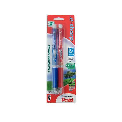 Pentel .e-sharp™ Mechanical Pencil 2 pack, Assorted Barrels