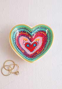 Heart Trinket Dish Artisan Heart