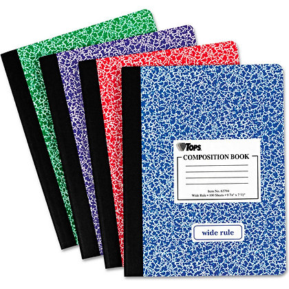 Tops Composition Book Wide Ruler - Assorted Colors