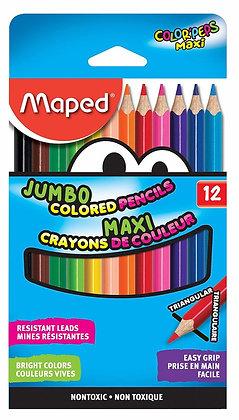 Maped 12 Set Colr'Peps Jumbo Colored Pencils