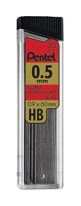 Pentel Super Hi-Polymer® Lead, 0.5mm, 30 Pieces