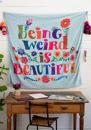 Natural Life Being WeirdTapestry Blanket